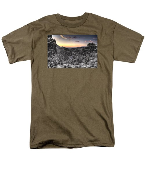 Men's T-Shirt  (Regular Fit) featuring the digital art The Arkansas Through Royal Gorge by William Fields
