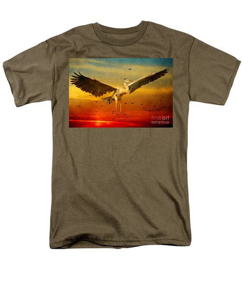 Men's T-Shirt  (Regular Fit) featuring the photograph The Arrival And The Reuinion by Heather King