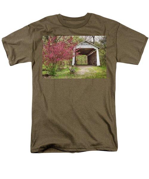 The Beeson Covered Bridge Men's T-Shirt  (Regular Fit) by Harold Rau