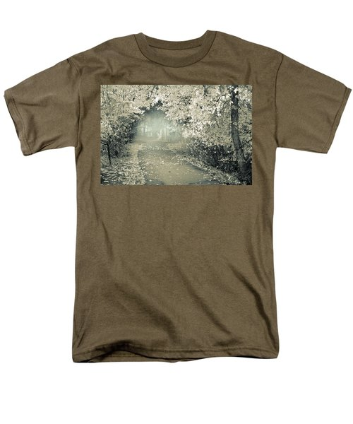 Men's T-Shirt  (Regular Fit) featuring the photograph The Bench That Waits For You by Tara Turner