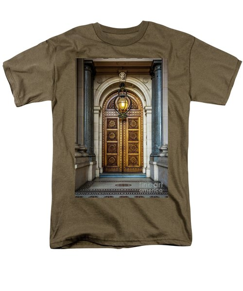 Men's T-Shirt  (Regular Fit) featuring the photograph The Big Doors by Perry Webster