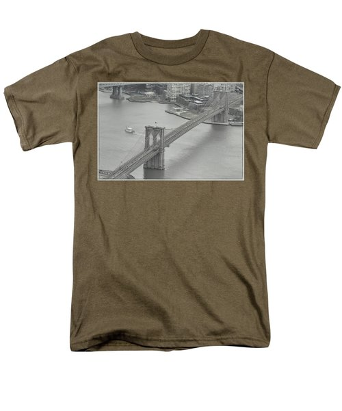 The Brooklyn Bridge From Above Men's T-Shirt  (Regular Fit) by Dyle Warren