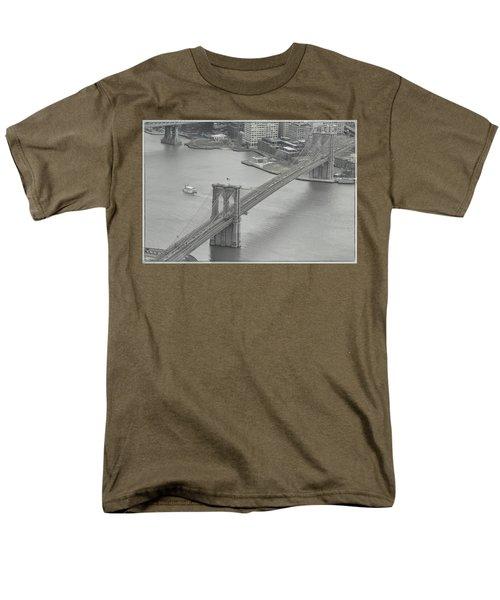 The Brooklyn Bridge From Above Men's T-Shirt  (Regular Fit)