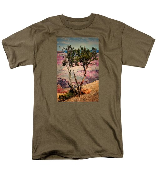 Men's T-Shirt  (Regular Fit) featuring the photograph The Canyon Tree by Tom Prendergast