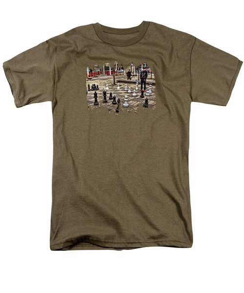 The Chess Match In Pdx Men's T-Shirt  (Regular Fit) by Thom Zehrfeld