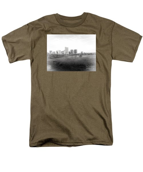 The City Of Richmond Black And White Men's T-Shirt  (Regular Fit) by Melissa Messick