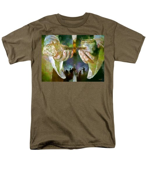 Men's T-Shirt  (Regular Fit) featuring the painting The Cross And The Feast by Wayne Pascall