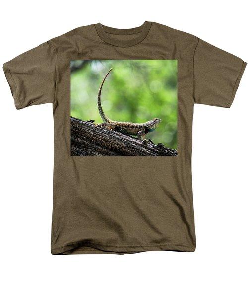 Men's T-Shirt  (Regular Fit) featuring the photograph The Desert Spiny Stance  by Saija Lehtonen
