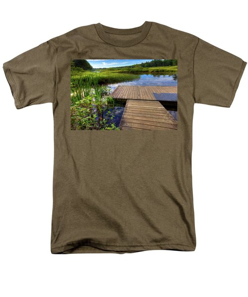 The Dock At Mountainman Men's T-Shirt  (Regular Fit) by David Patterson