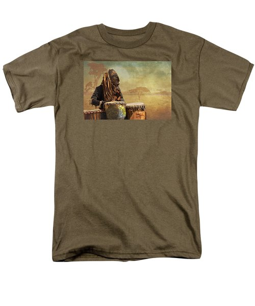 The Dream Of His Drums Men's T-Shirt  (Regular Fit) by Christina Lihani