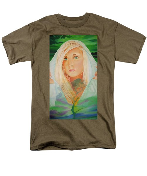 Men's T-Shirt  (Regular Fit) featuring the painting The Dreaming Tree by Joshua Morton