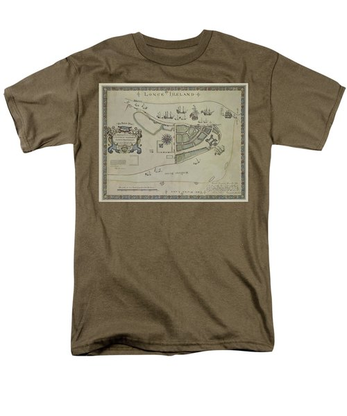 The Dukes Plan A Description Of The Town Of Mannados Or New Amsterdam 1664 Men's T-Shirt  (Regular Fit) by Duncan Pearson