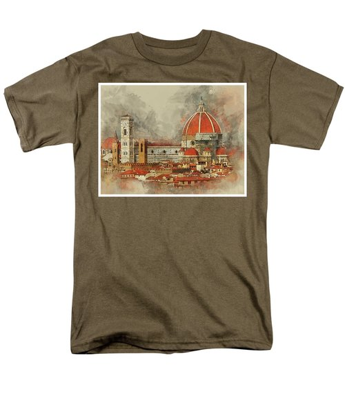The Duomo Florence Men's T-Shirt  (Regular Fit) by Brian Tarr