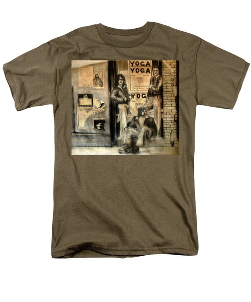Men's T-Shirt  (Regular Fit) featuring the drawing The Gang by Albert Puskaric