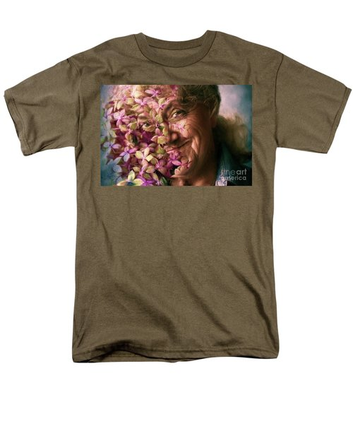 The Gardener Men's T-Shirt  (Regular Fit) by Jean OKeeffe Macro Abundance Art