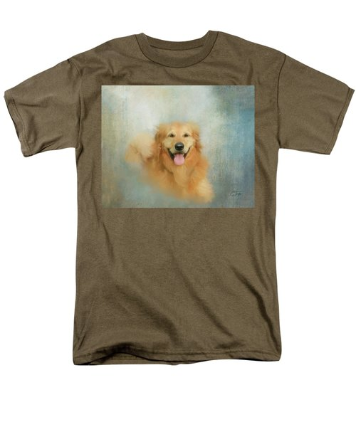 Men's T-Shirt  (Regular Fit) featuring the mixed media The Golden by Colleen Taylor