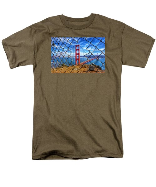 The Golden Gate Bridge  Men's T-Shirt  (Regular Fit) by Alpha Wanderlust