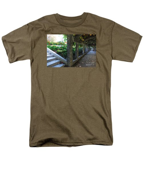 The Grape Arbor Path Men's T-Shirt  (Regular Fit) by David Blank