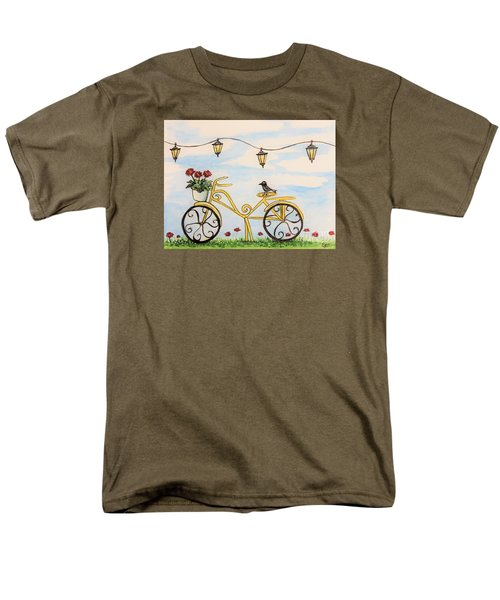 The Happy Yellow Bicycle Men's T-Shirt  (Regular Fit) by Elizabeth Robinette Tyndall