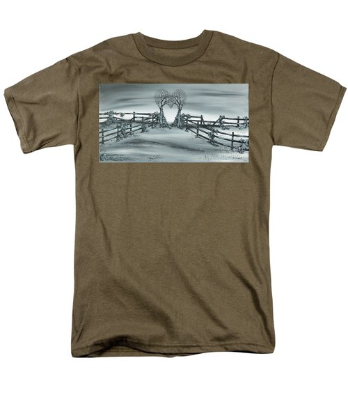 Men's T-Shirt  (Regular Fit) featuring the painting The Heart Of Everything by Kenneth Clarke