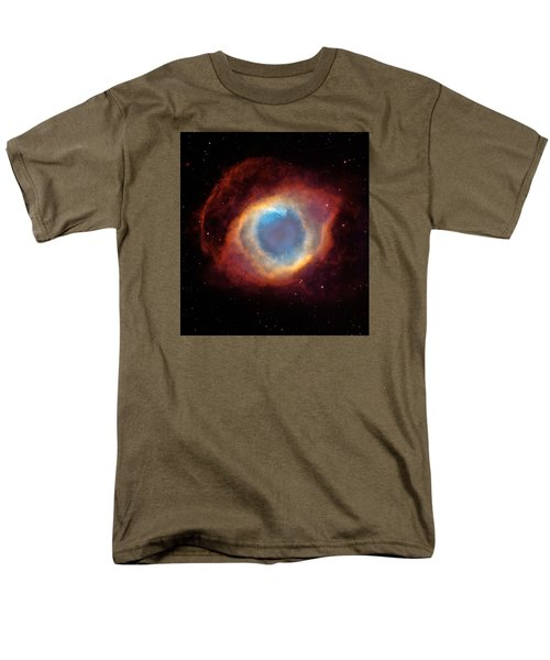 The Helix Nebula  Men's T-Shirt  (Regular Fit) by Hubble Space Telescope