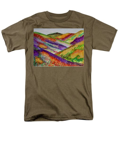 Men's T-Shirt  (Regular Fit) featuring the painting The Hills Are Alive by Kim Nelson