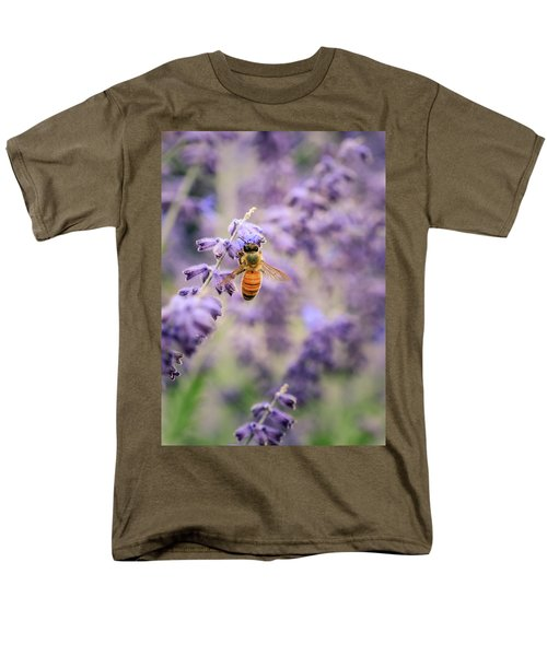 The Honey Bee And The Lavender Men's T-Shirt  (Regular Fit)
