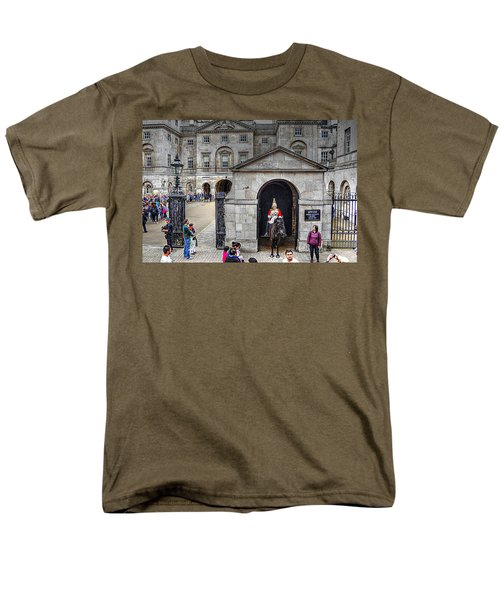The Horse Guard At Whitehall Men's T-Shirt  (Regular Fit) by Karen McKenzie McAdoo