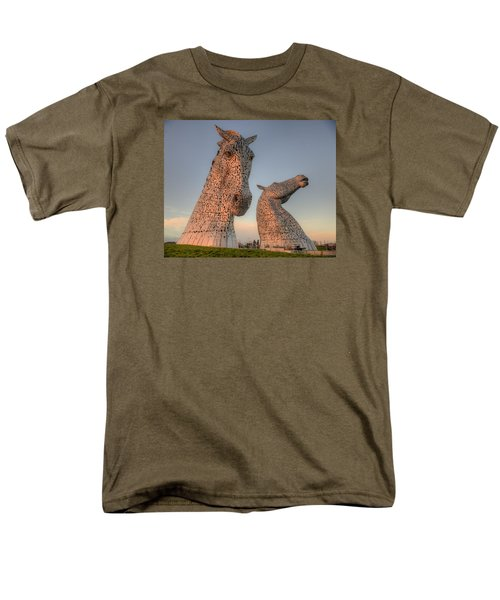 The Kelpies Men's T-Shirt  (Regular Fit) by Ray Devlin