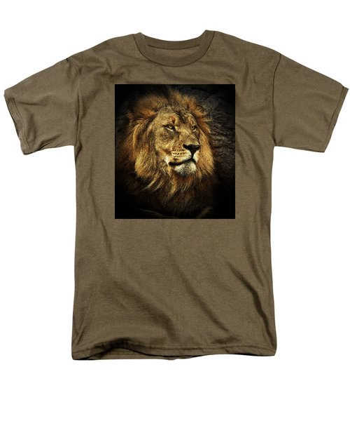 Men's T-Shirt  (Regular Fit) featuring the mixed media The King by Elaine Malott