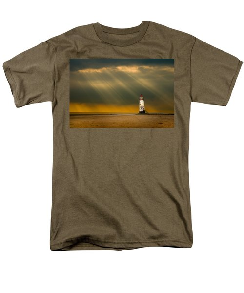 The Lighthouse As The Storm Breaks Men's T-Shirt  (Regular Fit) by Meirion Matthias