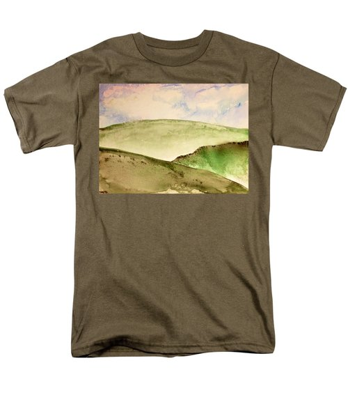 Men's T-Shirt  (Regular Fit) featuring the painting The Little Hills Rejoice by Antonio Romero