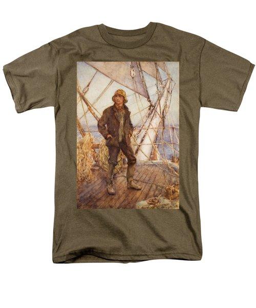 The Lookout Man  Men's T-Shirt  (Regular Fit) by Henry Scott Tuke