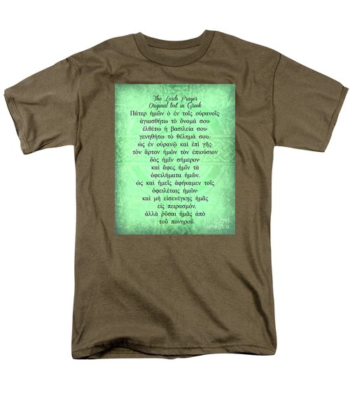 The Lords Prayer In Greek Men's T-Shirt  (Regular Fit) by Mindy Bench