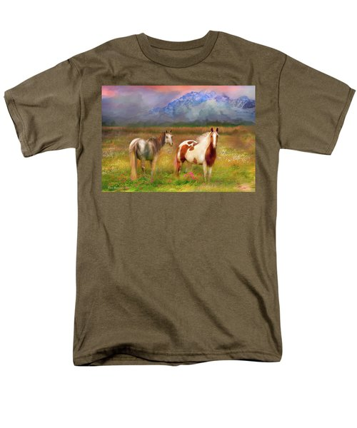 The Majestic Pasture Men's T-Shirt  (Regular Fit) by Kari Nanstad
