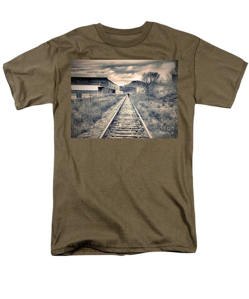 The Man On The Tracks Men's T-Shirt  (Regular Fit) by Tara Turner