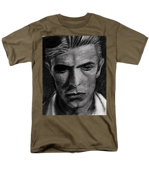 Men's T-Shirt  (Regular Fit) featuring the painting The Man Who Fell To Earth 1976 by Jarko Aka Lui Grande