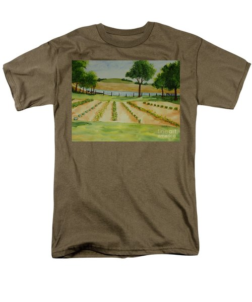 Men's T-Shirt  (Regular Fit) featuring the painting The Mangan Farm  by Vicki  Housel