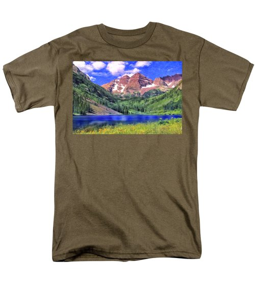 The Maroon Bells Men's T-Shirt  (Regular Fit) by Dominic Piperata