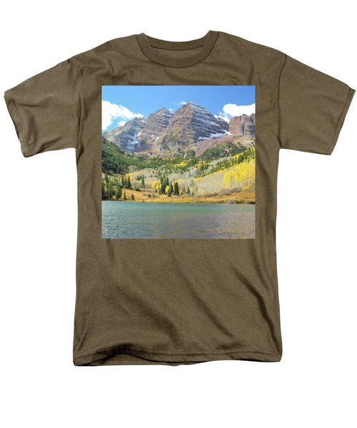 The Maroon Bells 2 Men's T-Shirt  (Regular Fit) by Eric Glaser