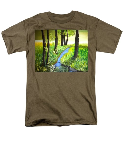 Men's T-Shirt  (Regular Fit) featuring the painting The Meadow by Rod Jellison