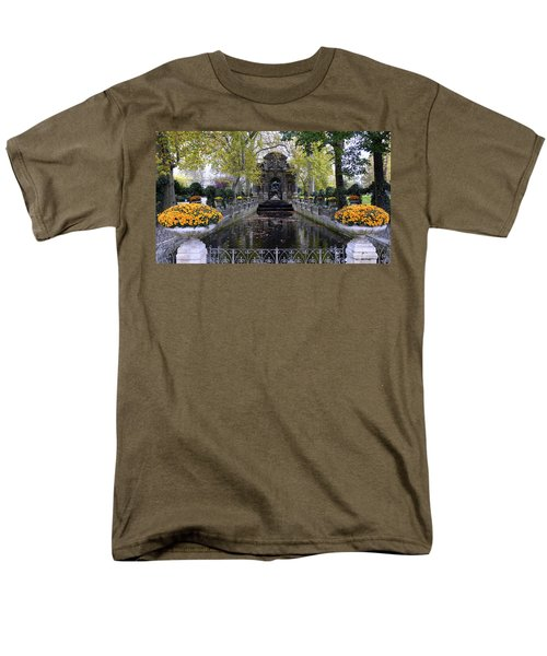 The Medici Fountain At The Jardin Du Luxembourg In Paris France. Men's T-Shirt  (Regular Fit) by Richard Rosenshein