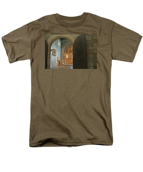 An Early Morning At The Medieval Abbey Men's T-Shirt  (Regular Fit) by Yvonne Wright