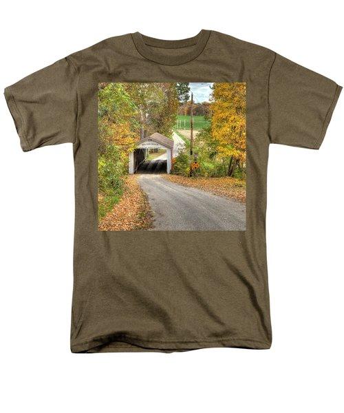 The Melcher Covered Bridge Men's T-Shirt  (Regular Fit) by Harold Rau