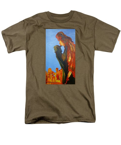 The Melting Men's T-Shirt  (Regular Fit) by Geeta Biswas