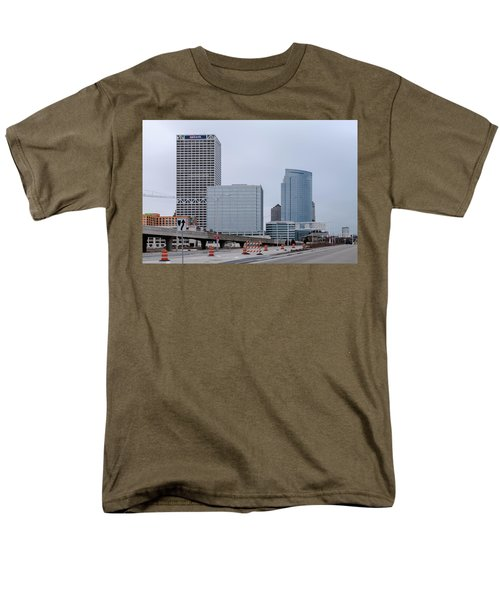 Men's T-Shirt  (Regular Fit) featuring the photograph The New Milwaukee Skyline by Randy Scherkenbach