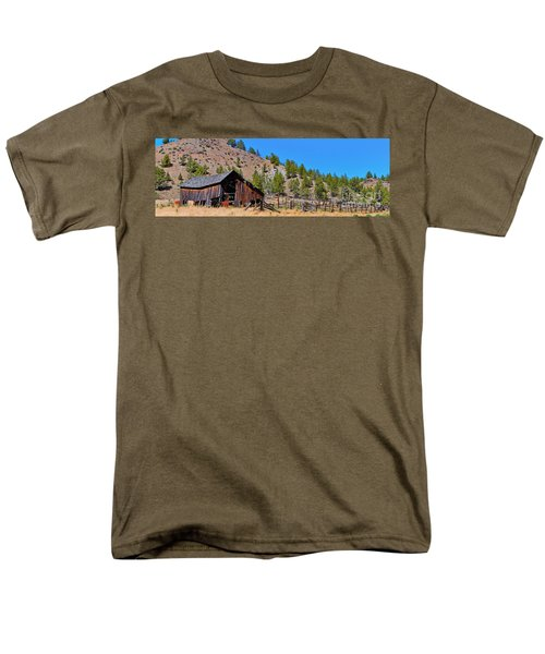 The Old Pine Creek Ranch Barn And Coral Men's T-Shirt  (Regular Fit) by Ansel Price