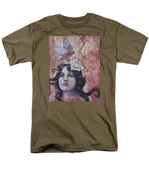 Men's T-Shirt  (Regular Fit) featuring the mixed media The Oracle by Sheri Howe