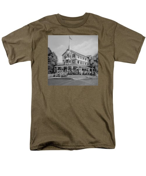The Parker House Black And White Men's T-Shirt  (Regular Fit) by Melinda Saminski