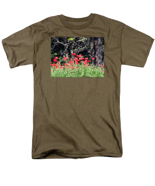 Men's T-Shirt  (Regular Fit) featuring the photograph The Poppy Garden by Teresa Schomig